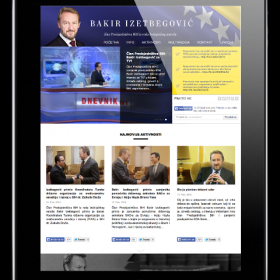Website of Bakir Izetbegovic the B&H Presidency member